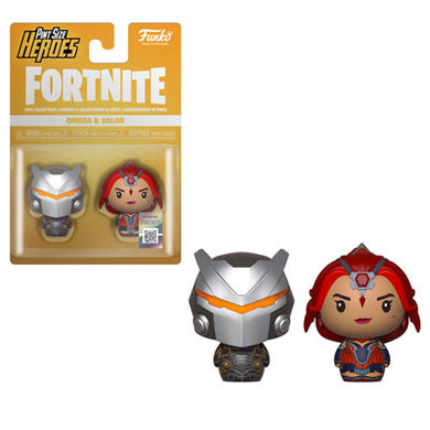 PRE-ORDER - Pint Sized Heroes: 2 pack Fortnite, Omega/ Valor