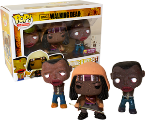 POP! Television: The Walking Dead, Michonne & Her Pets (Splatter) (3-Pack) (PX Previews)