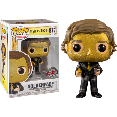 PRE-ORDER - POP! Television: 877 The Office, Goldenface (Special Edition) Exclusive