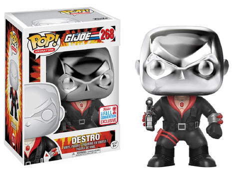 POP! Animation: 268 G.I. Joe, Destro NYCC 2017 Shared *Damage* 8/10