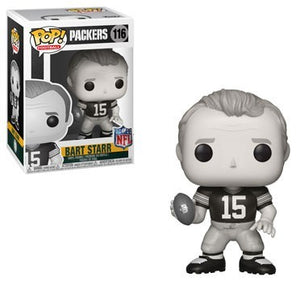 POP! Football: 116 Bart Starr, Green Bay Packers Black and White Edition