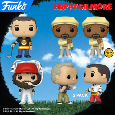 POP! Movies: Happy Gilmore Bundle w/ chase & 2 pack