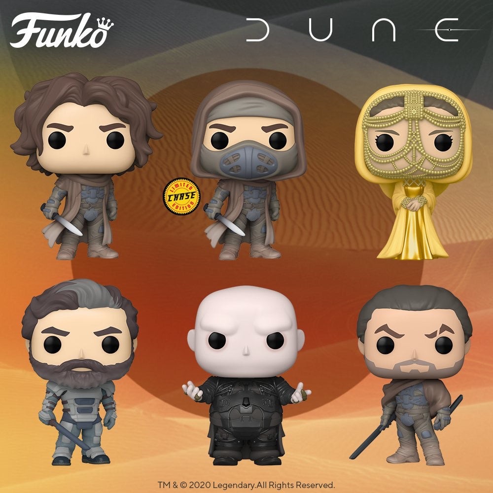 PRE-ORDER - POP! Movies: Dune, Bundle of 6 w/ Chase