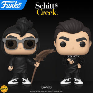 PRE-ORDER - POP! TV: Schitt's Creek, David Rose (w/Chase) (Bundle of 2)