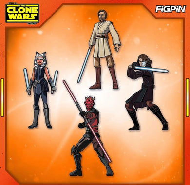 PRE-ORDER - Star Wars Clone Wars FiGPiN Bundle of 4