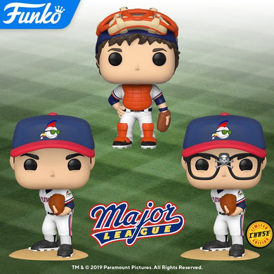 POP! Movies: Major League w/Chase (Bundle of 3)