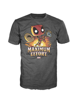 POP! Tees: Deadpool Max Effort