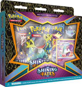 Pokemon: Shining Fates, Polteageist Mad Party Pin Collection