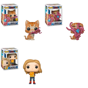 POP! Marvel: Captain Marvel Bundle of 3 with Chase