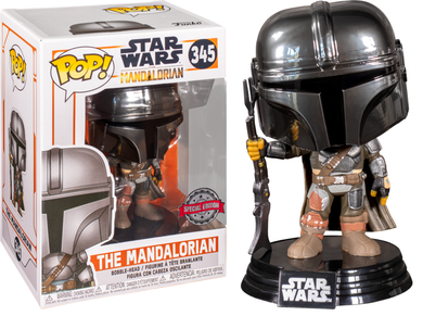 POP! Star Wars: 345 The Mandalorian, The Mandalorian (Chrome) (Special Edition)