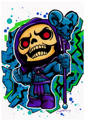 Scoots Art: Skeletor 11x17 Print