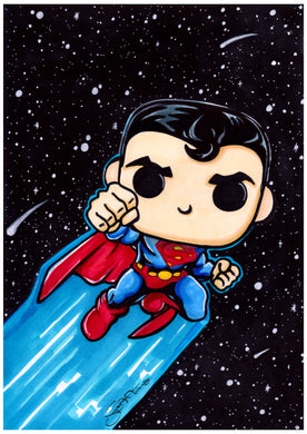Scoots Art: Superman 11x17 Print