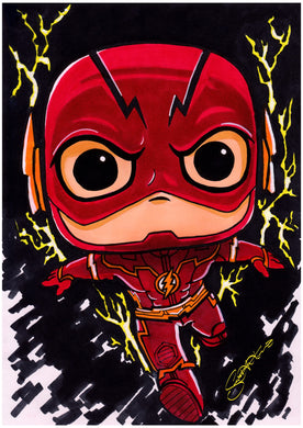 Scoots Art: Flash 11x17 Print