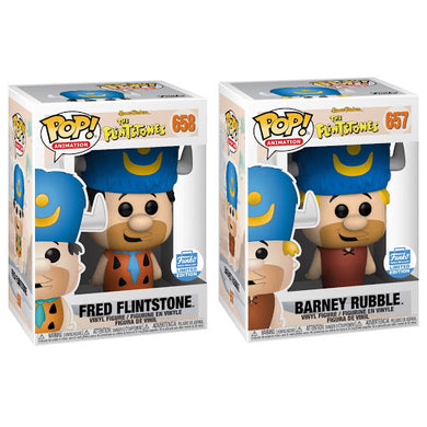 POP! Animation: The Flintstones, Fred & Barney (Bundle of 2) Funko Shop Exclusive