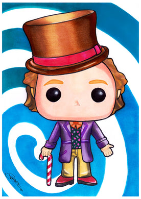 Scoots Art: Willy Wonka 11x17 Print