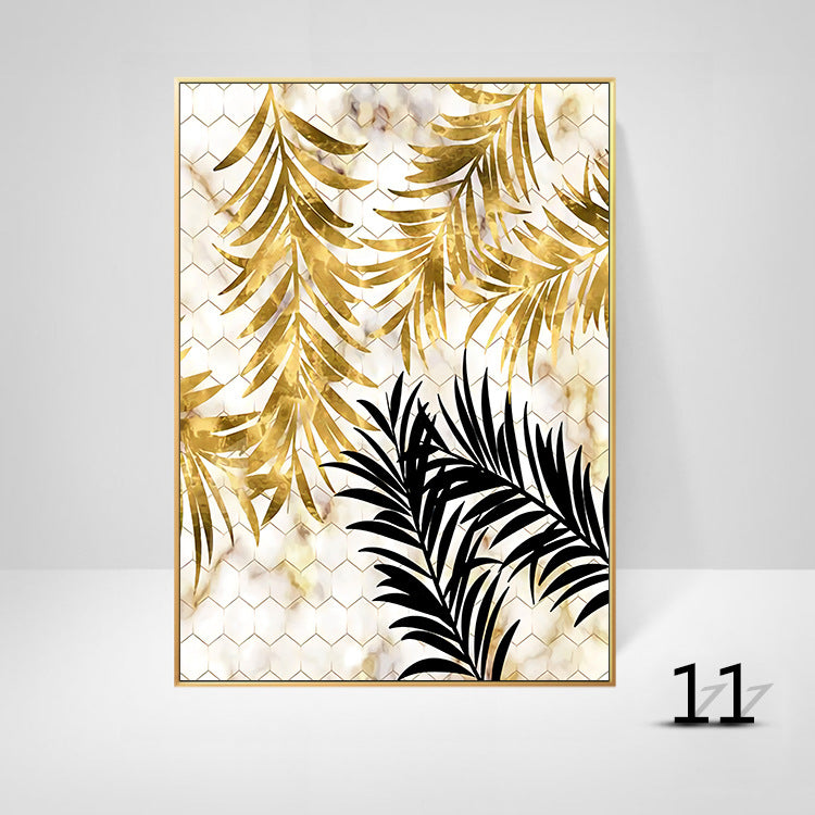 Golden Leaves Canvas