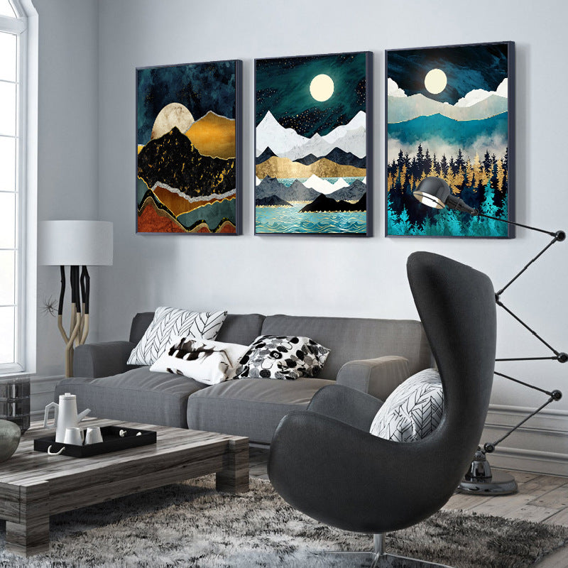 Sun Moon Stars Canvas