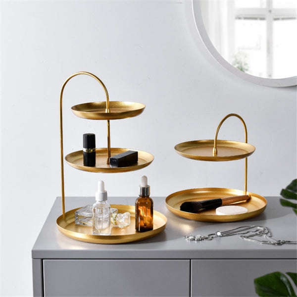 Nordic Double Layer Gold Tray