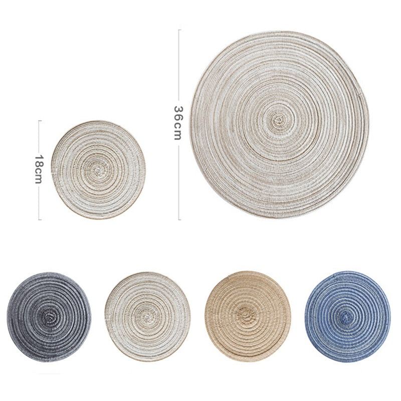 Nordic round table mat