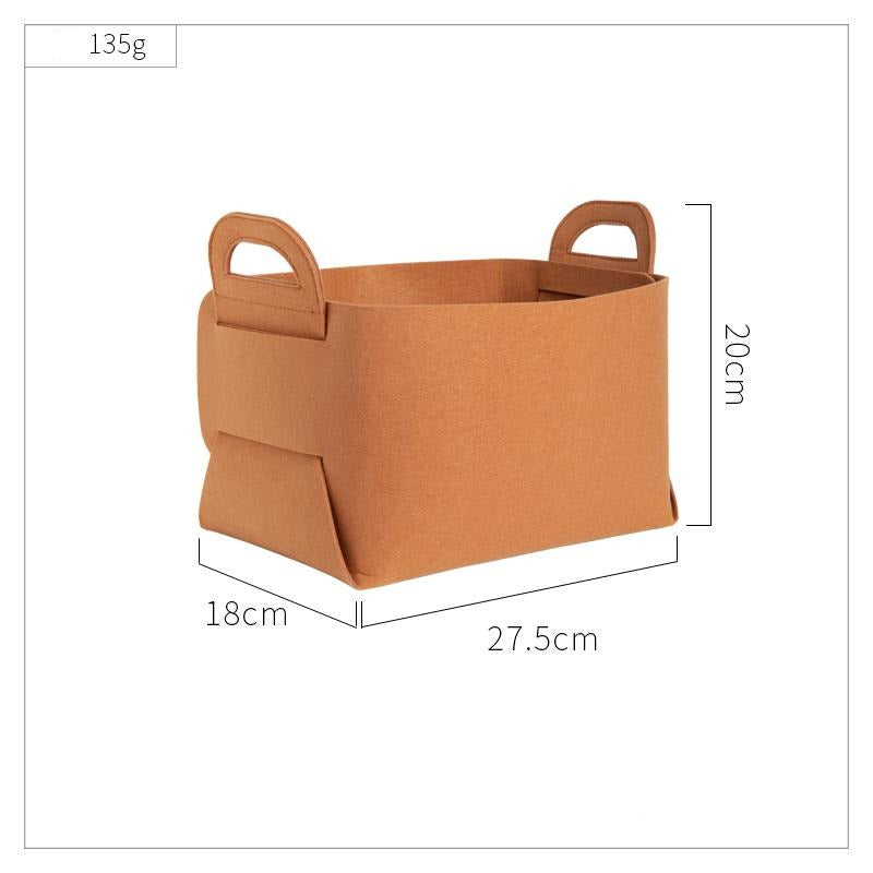 felt folding storage basket