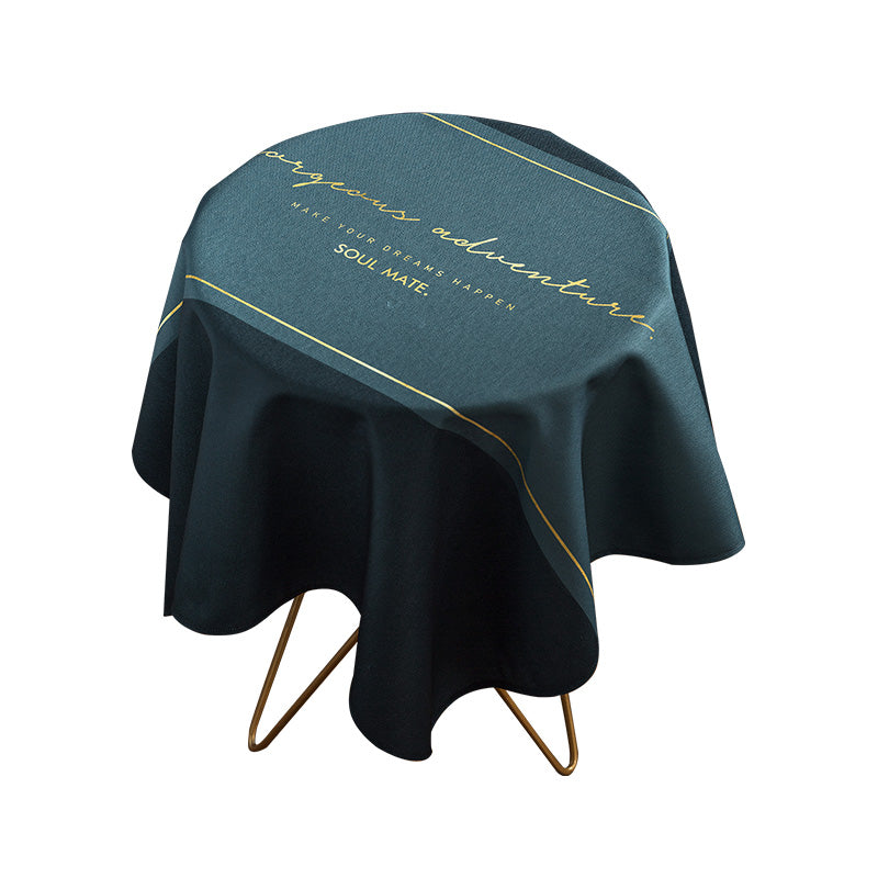 Modern Waterproof Around Tablecloth