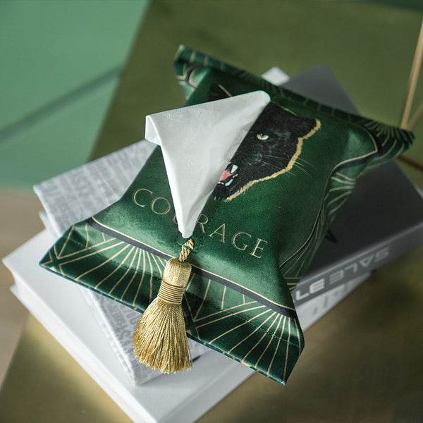 luxury green tissue cover