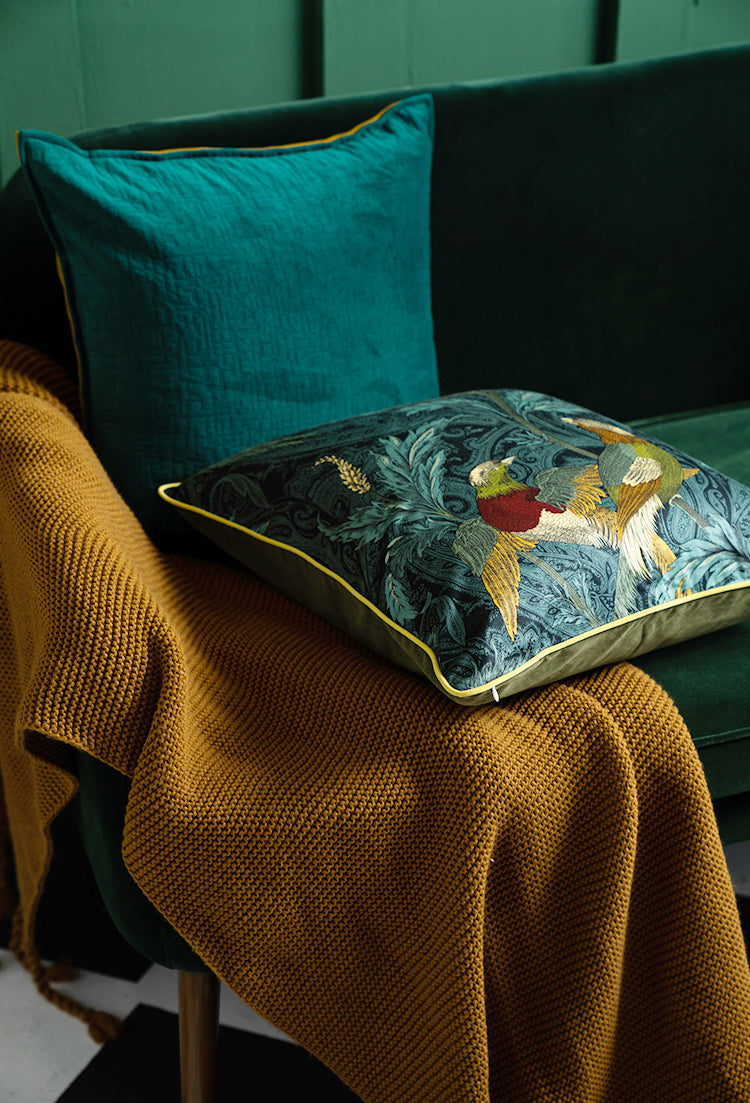 floral Bird throw pillow covers