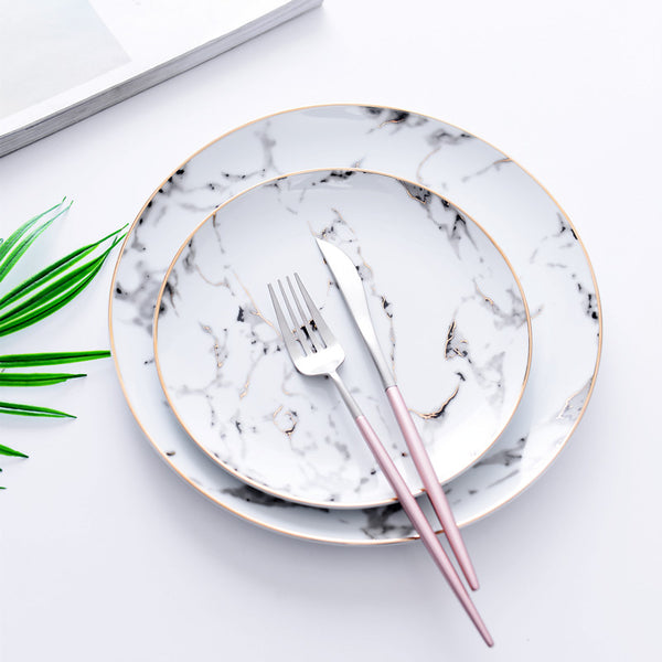 White Marble Plate