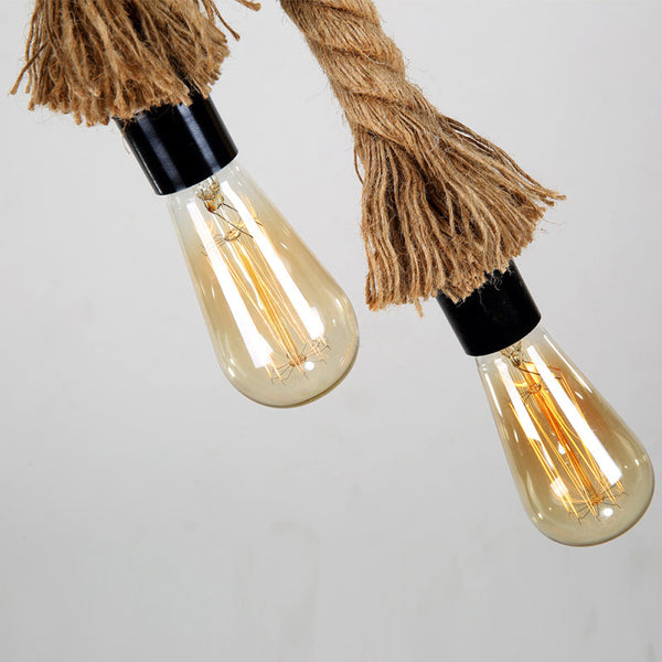 Vintage Hemp Rope Light