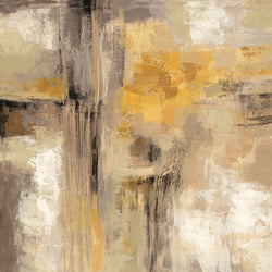 Gray Yellow Oil Painting Canvas