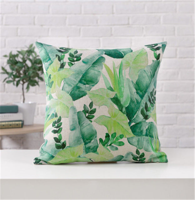 Tropical Pillow Cover