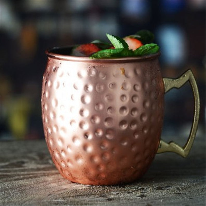 Barrel Shaped Copper Mug