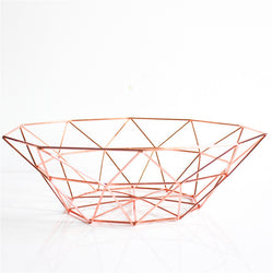 Metal Table Storage Basket