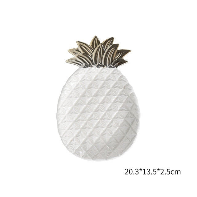 Pineapple Leaf Ceramic Plate