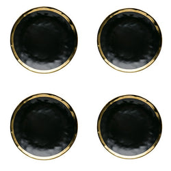 Black Gold Plate Set of 4