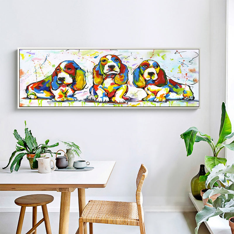 Cute Colorful Dog Canvas
