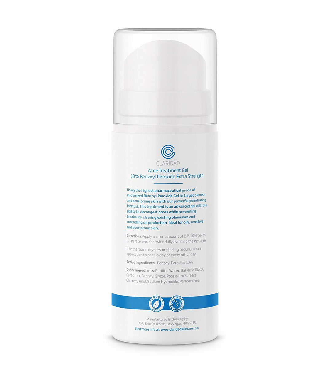 Benzoyl Peroxide 10 Acne Treatment Gel Unbuffered Micronized