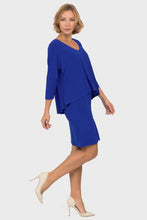 Load image into Gallery viewer, Sapphire Two Tiered V-Neck Dress