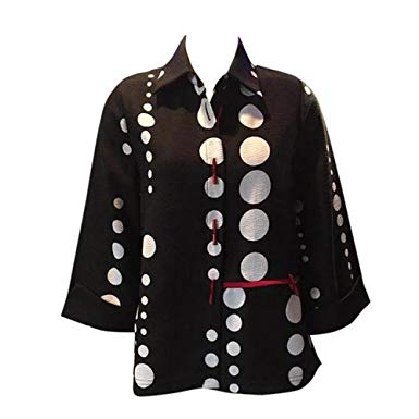 Red & Black Dot Print Jacket