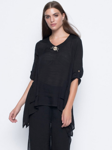 3/4 Rolled Sleeve Lightweight Top