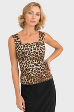 Load image into Gallery viewer, Leopard Print Square Neck Tank