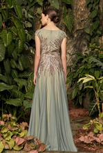 Load image into Gallery viewer, Iceberg & Metallic Beadwork Gown