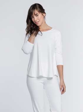White Essential 3/4 Sleeve Top