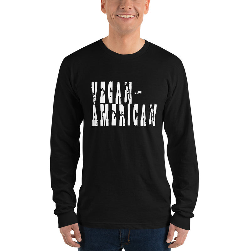 Vegan-American Unisex Long Sleeve Fitted Crew