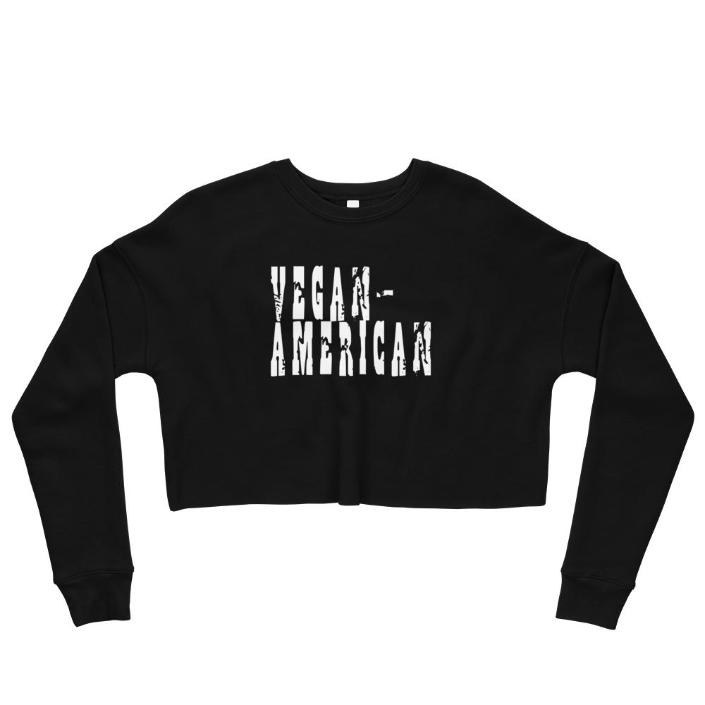 Vegan-American Crop Sweatshirt