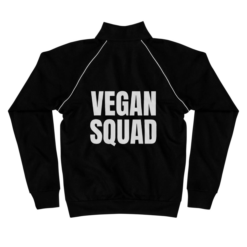 Vegan Squad Cotton Piped Fleece Jacket
