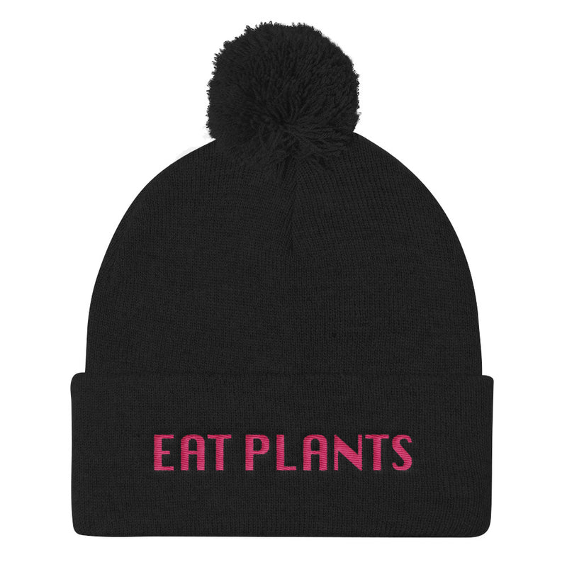 Eat Plants Pom Pom Beanie