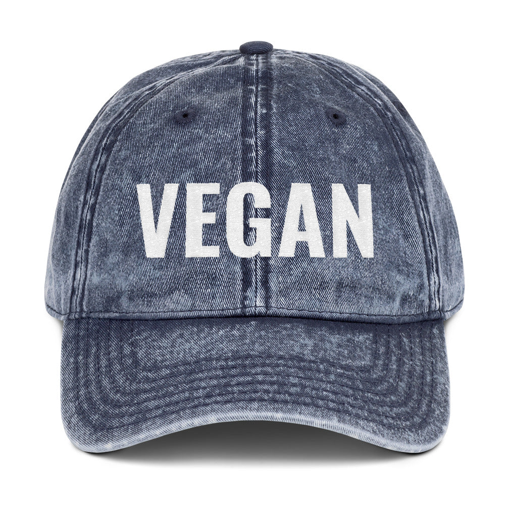 VEGAN Vintage Cotton Twill Cap