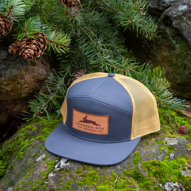 Chesser Roe Hat - Dark Grey & Gold Twill