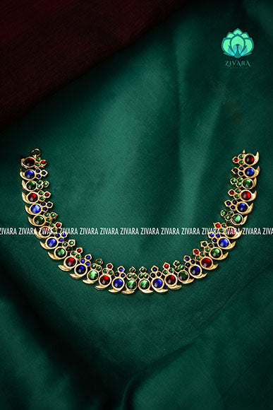Pallavi- kemp jewellery - Zivara fashion- south indian kemp neckwear for wome